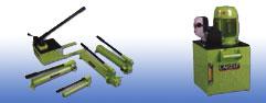 Bộ nguồn thuỷ lực  Bơm tay 2 cấp, áp suất: 700bar  Bơm điện, khí, diezel: áp suất: 700bar
